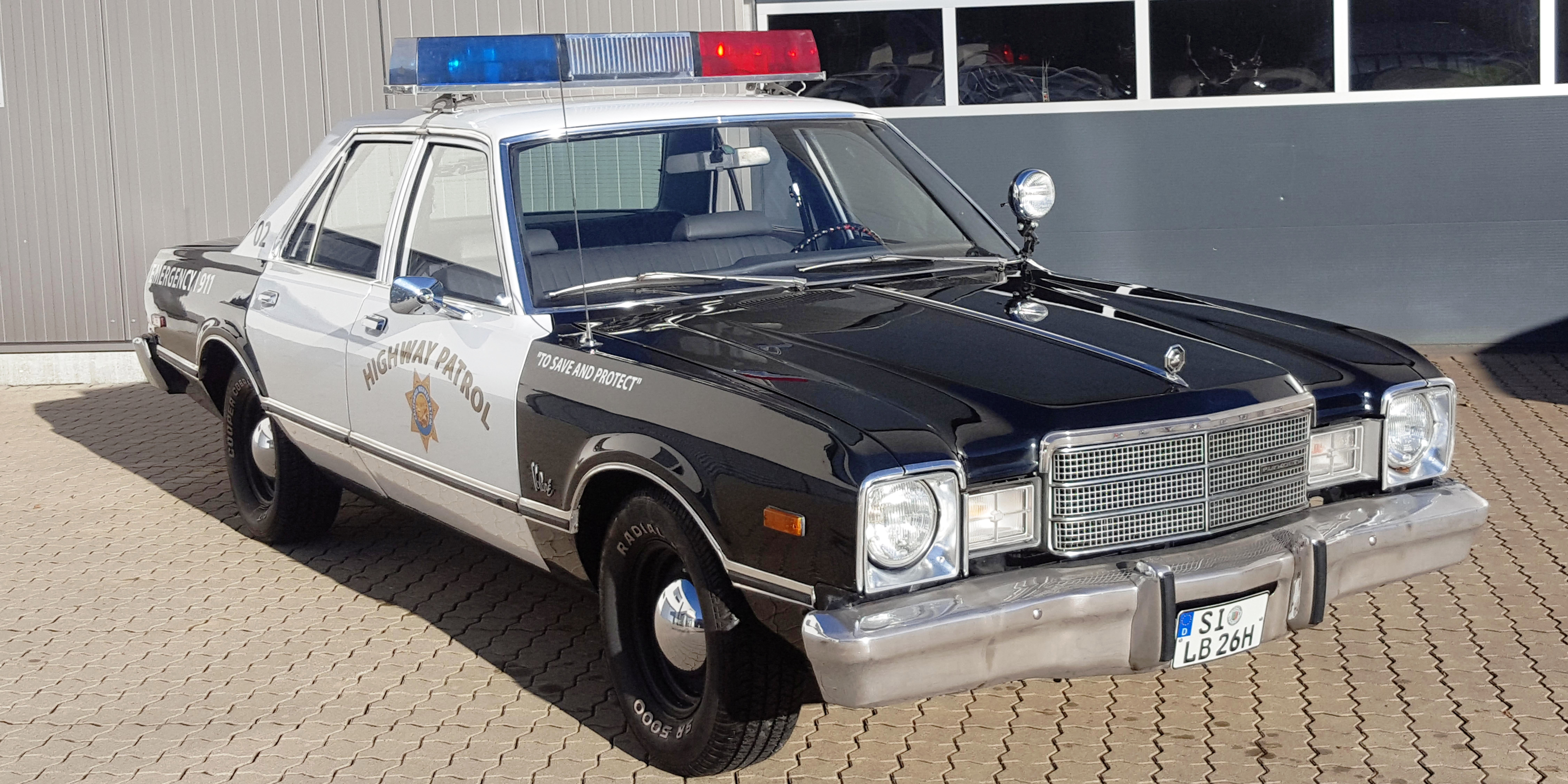 US Policecar Plymouth